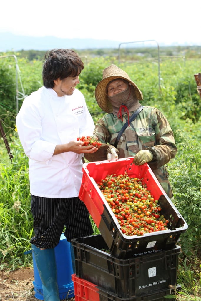chef and farmer