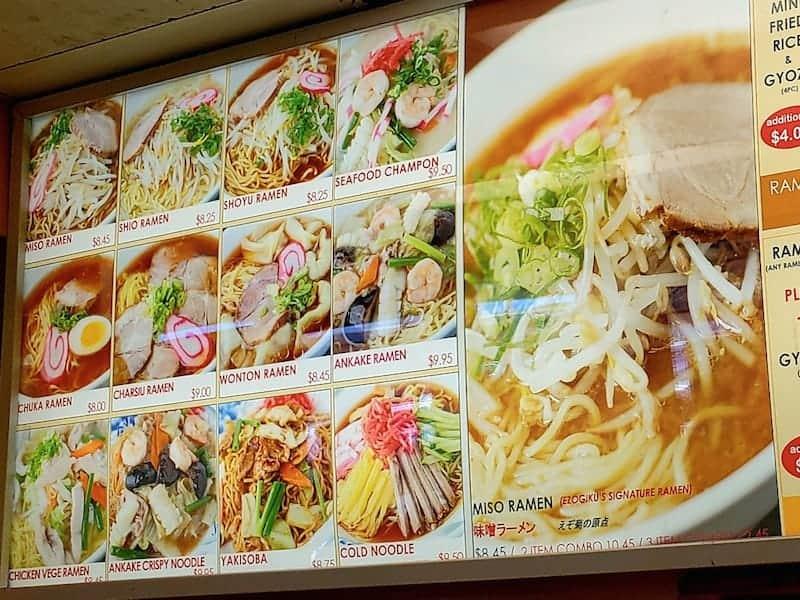 ezogiku menu pearl city