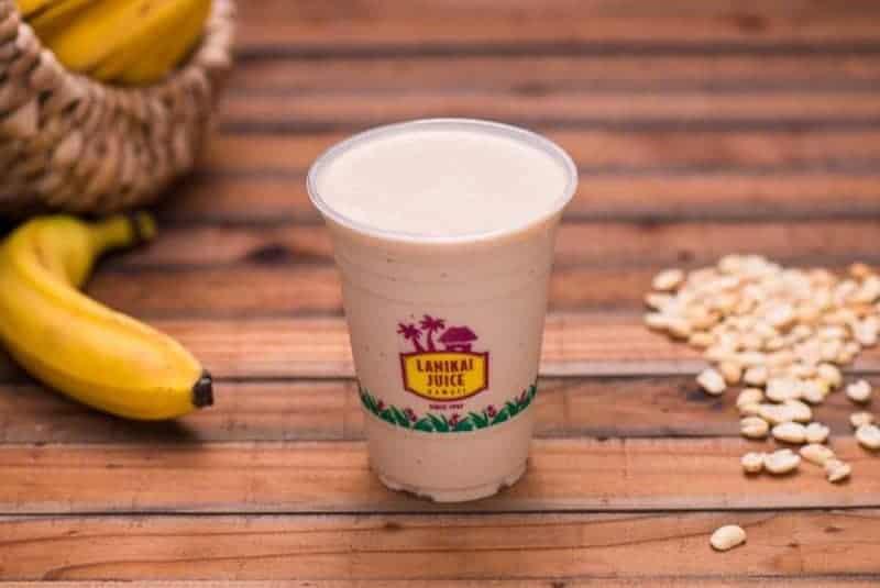 #1 Ordered Smoothie: Kailua Monkey-Banana, Peanut Butter, Organic Soy Milk, Vegan Protein or, Whey Protein (Chocolate or Vanilla), Honey