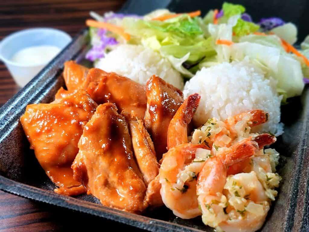 Miso Chicken & Garlic Shrimp Combo!