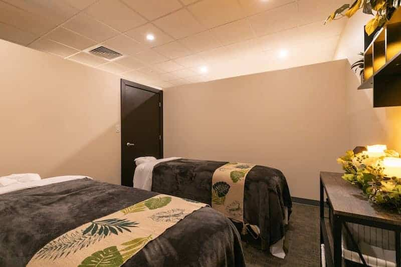 Private rooms, couple massages available.