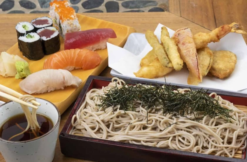 Japanese SOBA(buckwheat) Noodles are rich in vitamins, low in calories, and very tasty!