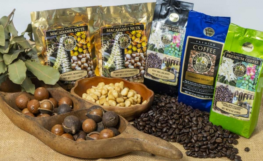 Mac nuts & Coffee free to sample!
