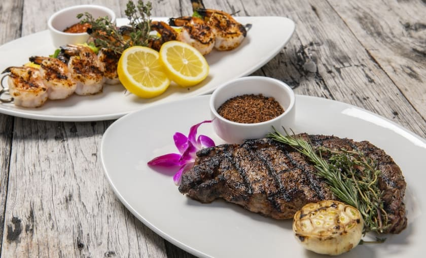 Experience the ultimate in beachfront dining. We provide the best quality meats and vegetables , you grill them to perfection.