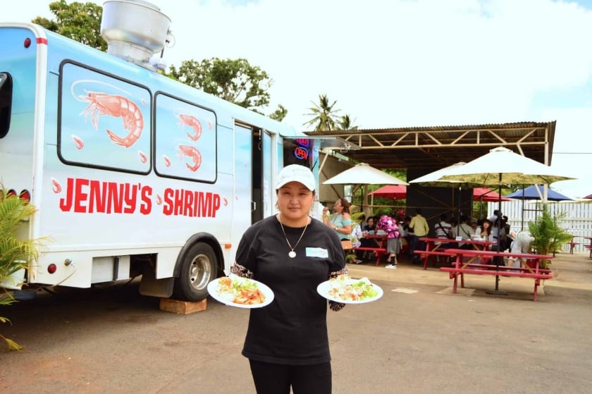 Jenny's returns as the successor to highly popular shrimp truck, Macky's!
