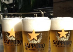 Kaiwa's Special Offering ($1 Sapporo Drafts) featuring Honolulu Marathon
