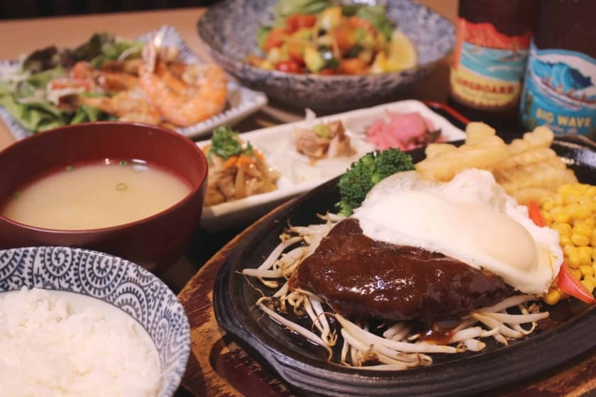1 main dish for $15 / 2 main dishes for $24