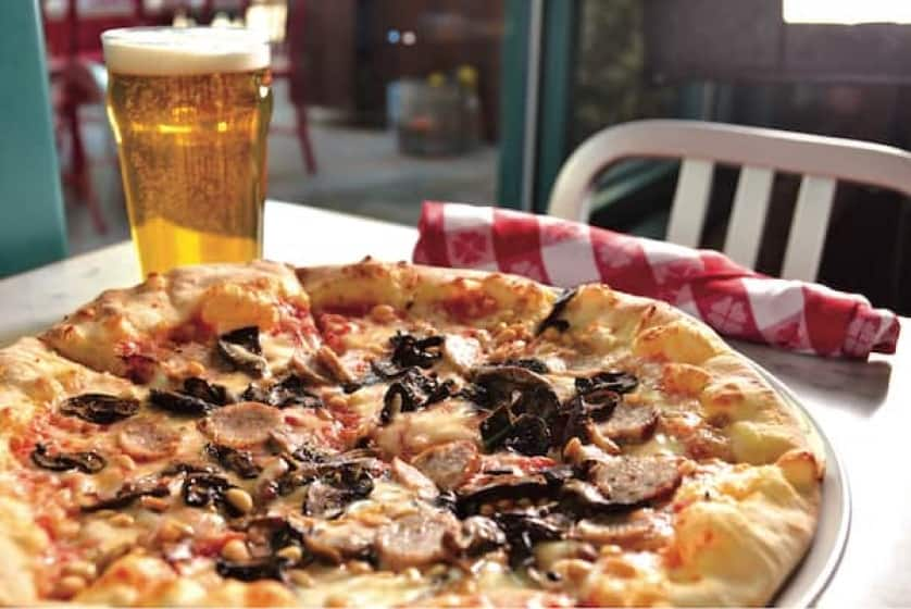 At Flour & Barley - Brick Oven Pizza, you'll find a traditional pizzeria eatery complete with Italian American favorites to fit modern tastes.