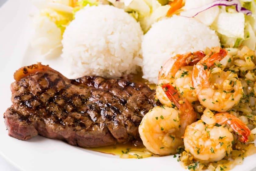 Steak & Shrimp Combo (Full)/$18.75