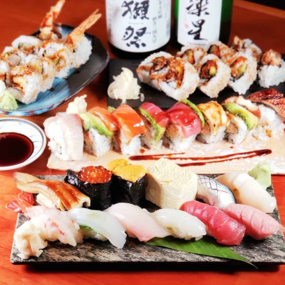 Enjoy a great selection of roll sushi!