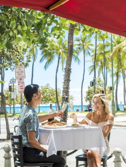 Feel the tropical breeze with open-air terrace dining.