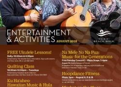 Events for August at Waikiki Beach Walk