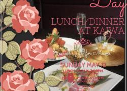 "Celebrate Mother's Day at Japanese Restaurant ""KAIWA"""