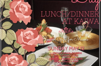 "Celebrate Mother's Day at Japanese Restaurant ""KAIWA"""