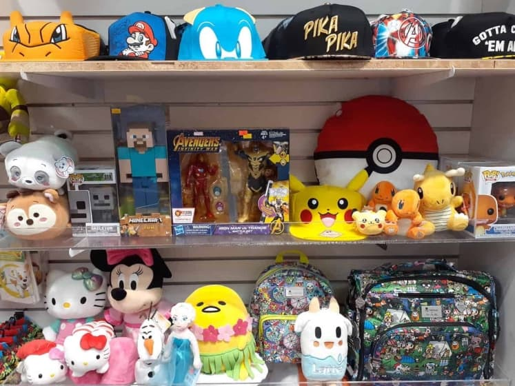Popular cartoon characters such as  Pokemon and Tokidoki available here!