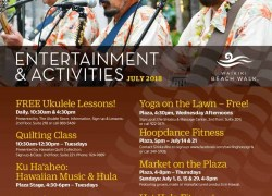 Events for July at Waikiki Beach Walk