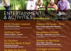 Events for September at Waikiki Beach Walk