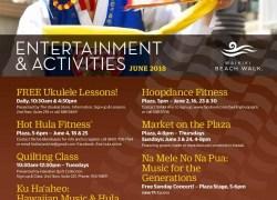 Events at Waikiki Beach Walk in June